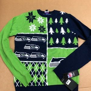 nfl sweaters nfl seahawks christmas sweater nwt m - Seahawks Christmas Sweater